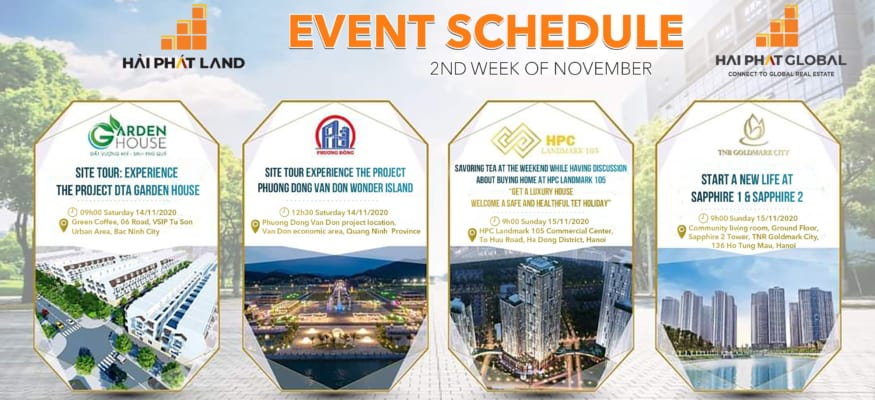 Event schedule on 2nd week of November